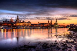 old city sunset by stg123
