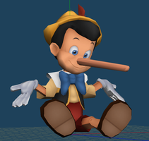 Pinocchio v2 Pre-Papercraft Model by Sabi996