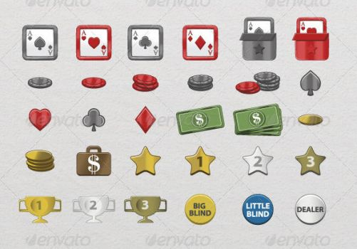 30 Poker Icons by etnocad