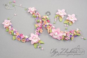 Set with orchid by polyflowers