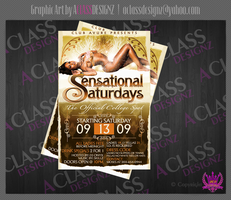 Sensational Saturdays Flyer by aCLASSdesignz