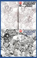 FANTASTIC FOUR SKETCH COVER by stalk
