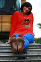Dirty bare soles - Tanja 012 by foot-portrait