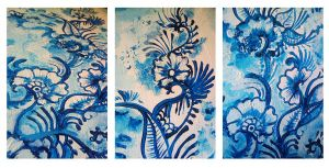 Blue flowers 1 by cydienne