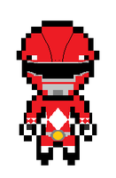 Red (Tyranno) Ranger Pixel by HyperForceGo