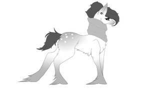 Black and white Adopt by TinyTeaDrinker