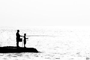 Fishing with Dad by nmajali