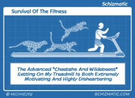 Survival Of The Fitness by schizmatic