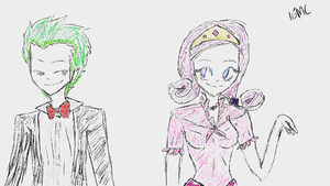 Rarity and Spike At The Gala by 15MadyCat
