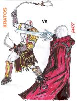kratos vs dante by rebellionknight