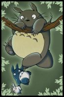 Totoro: Hang in There! by LuvableNerd