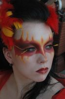 Phoenix make-up by LeafOfSteel