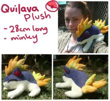 sleepy Quilava plush by scilk