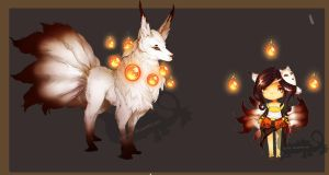 [DRAW TO ADOPT] Ninetails ~ CLOSED by Sableu