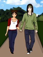 Strolling hand in hand by Sorceress2000