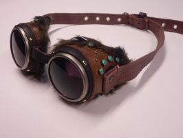 Steampunk winter goggoles by Maroventolo