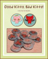 Kitty Buttons by Minty-Kitty-Art