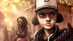 Walking dead stream speedpaint by DarrenGeers