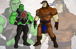 So! Orcish superheroes by sharlin
