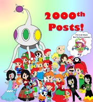 My 2000th Posts!!!! - With all my OC's by Rotommowtom