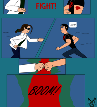 Masterghost vs Superboy Fight page 2 by MasterghostUnlimited
