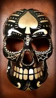 Luxury Sugar Skull Black and Gold by FearlessFacade