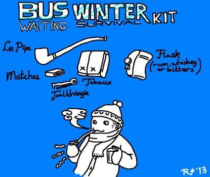 Winter Survival Kit during waiting for the bus. by sugaplayah