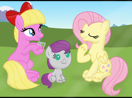 Picnic Time! - Kizo, Zabu and Fluttershy by SJArt117