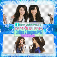 Demi Y Sel - Neon Lights PNG'S by SoffMalik