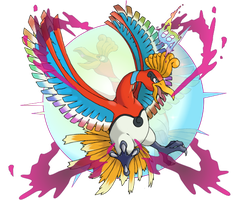 Mega Ho-Oh by CoolShallow