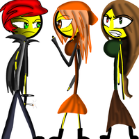 Rock Meets Katie And Z.E.N by Demonic-stickfigures