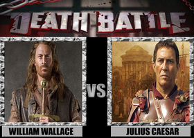 Death Battles: William Wallace Vs. Julius Caesar by MrAngryDog