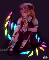 Chained Flandre by Kalcedonyx