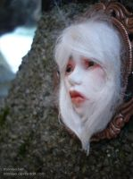 Art Doll Face cameo pendant 8b by Moniee