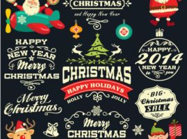 Lovely-Santa-Claus-sales-tag-vector-material by vectorbackgrounds
