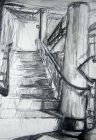 Sketch: Stairwell by Villacious