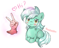 Lyra Heartstrings says ''Hi'' to Humans. by Jamchushine