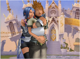 Aqua hugs Ventus by yellalix