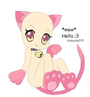 """mew"" Hello by Kasume015"