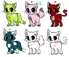 Cat Adoptables (Batch 4) [OPEN] by LieutenantLulu