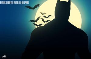 Batman Silhouettes Vector and Wallpaper by AlpGraphic13