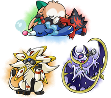 Sunny, Moon-Moon and Sleepyheads Stickers by SoftMonKeychains