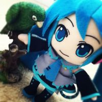 Hatsune Miku and Perry the Parrot! by Catnap2020