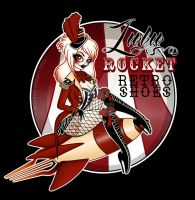 Lulu Rocket Retro Shoes Logo by Miss-Cherry-Martini