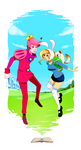 Adventure Time: Gumball and Fionna by tabby-like-a-cat