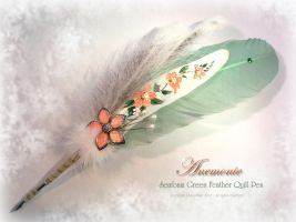 ANEMONIE Feather Quill Pen by ChaeyAhne