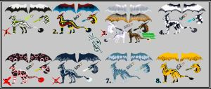 Dragon adoptables -ALL SOLD- by Sara-A2