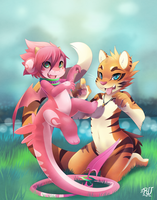Furries Furever RU-and-tiger end CH by phation