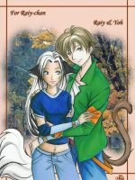 Raiy and Yoh -- for Raiy-chan by funny-neko