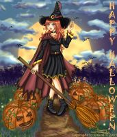 Halloween Witch by Nawal